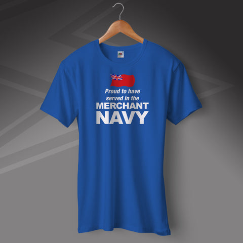 Merchant Navy T-Shirt Proud to Have Served