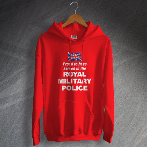 Royal Military Police Hoodie Proud to Have Served