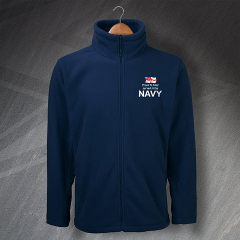 Proud to Have Served In The Navy Embroidered Fleece