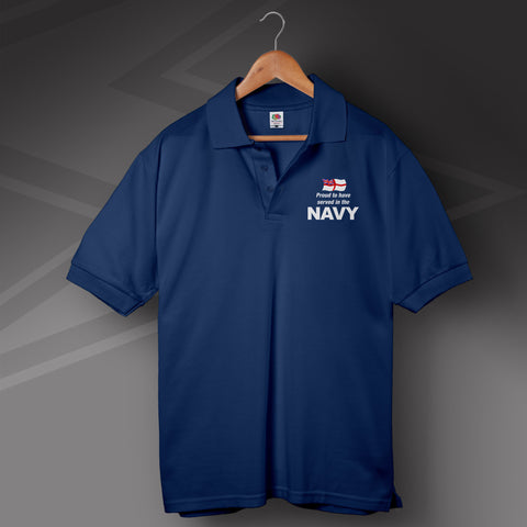 Proud to Have Served In The Navy Printed Polo Shirt