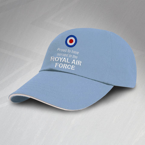 RAF Baseball Cap Embroidered Proud to Have Served