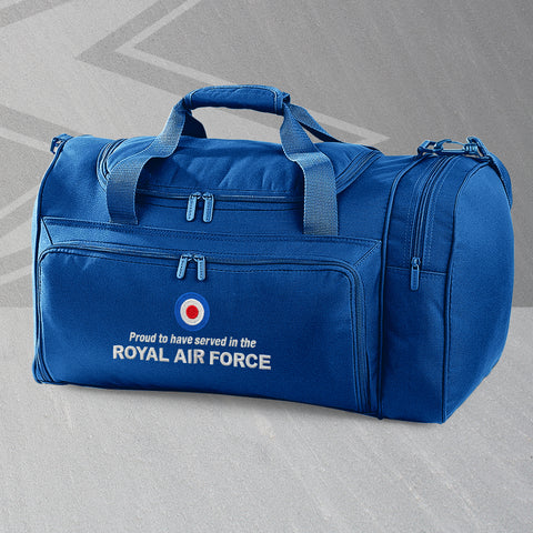 Proud to Have Served In The Royal Air Force Embroidered Universal Holdall