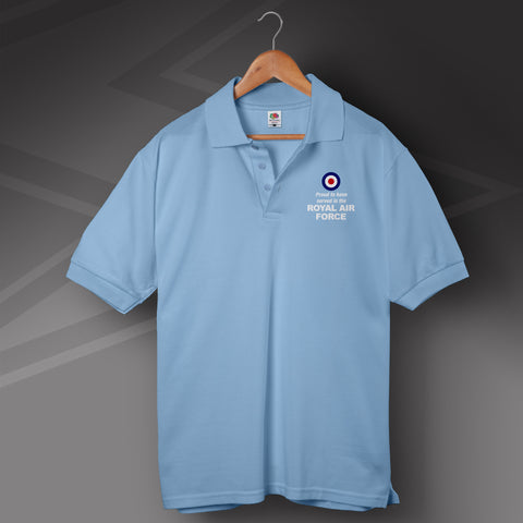 Royal Air Force Polo Shirt Printed Proud to Have Served