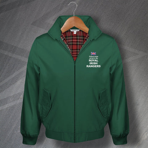Royal Irish Rangers Harrington Jacket Embroidered Proud to Have Served