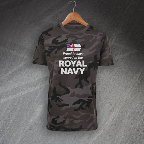 Royal Navy Camo T-Shirt Proud to Have Served