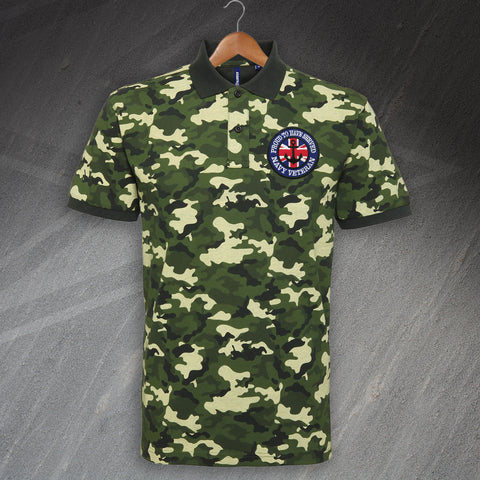 Navy Veteran Camo Polo Shirt