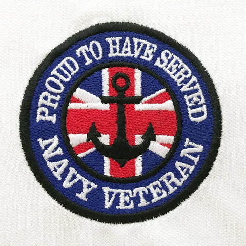 Navy Veteran Embroidered Badge