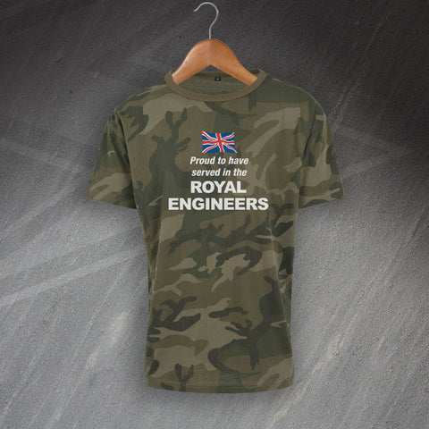 Royal Engineers Camo T-Shirt Proud to Have Served