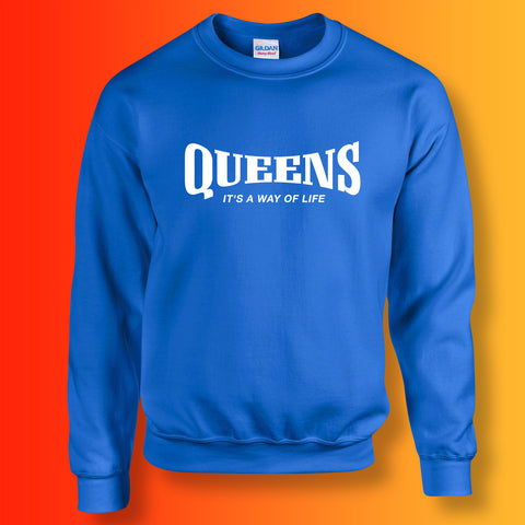 Queens Sweater with It's a Way of Life Design