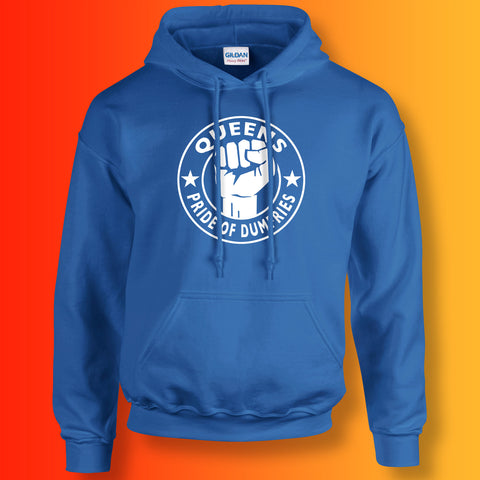 Queens Hoodie with The Pride of Dumfries Design Royal Blue