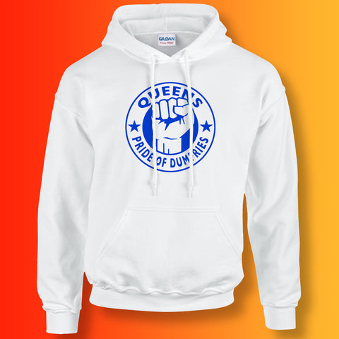 Queens Hoodie with The Pride of Dumfries Design White