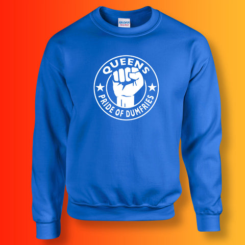 Queens Sweater with The Pride of Dumfries Design