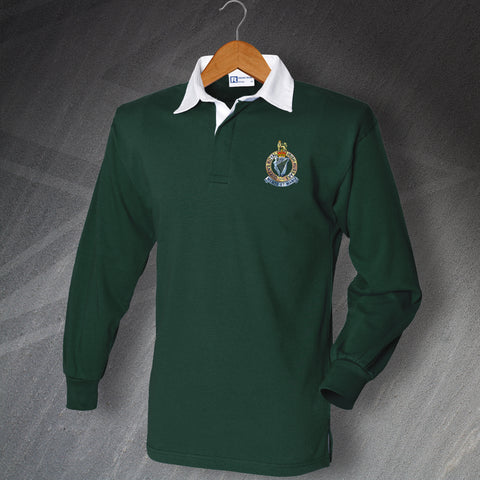Queen's Royal Irish Hussars Rugby Shirt with Embroidered Badge