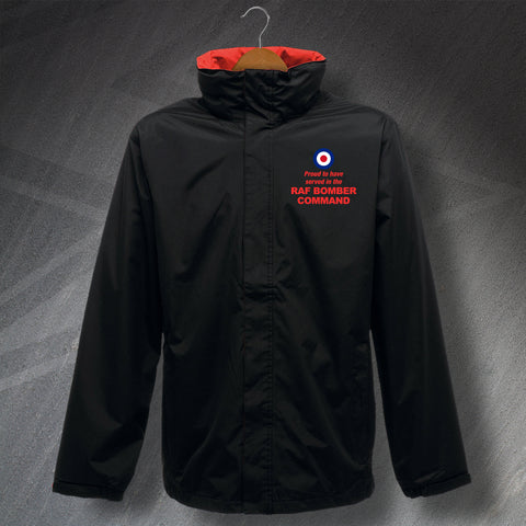 Proud to Have Served In The RAF Bomber Command Embroidered Waterproof Jacket