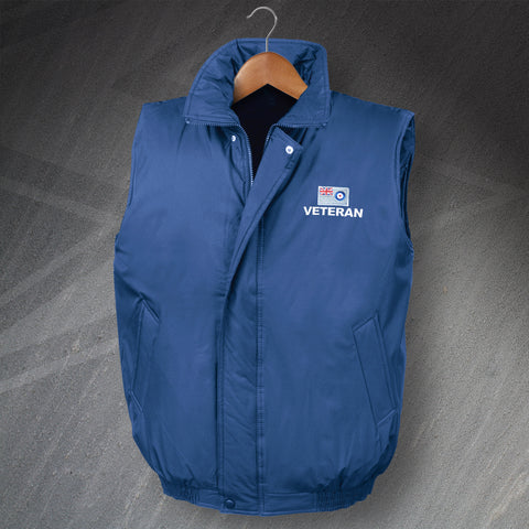 RAF Veteran Embroidered Padded Bodywarmer