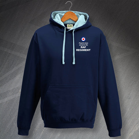RAF Regiment Hoodie Embroidered Contrast Proud to Have Served