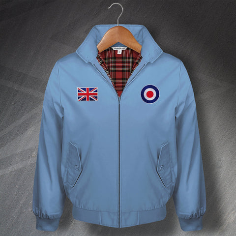 RAF Harrington Jacket Embroidered Union Jack Royal Air Force Roundel