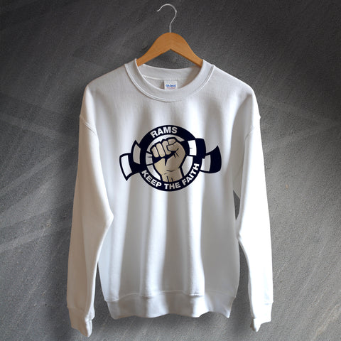 Derby Football Sweatshirt Rams Keep The Faith
