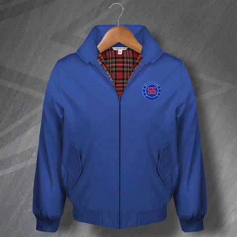 Rangers Football Harrington Jacket Embroidered 55