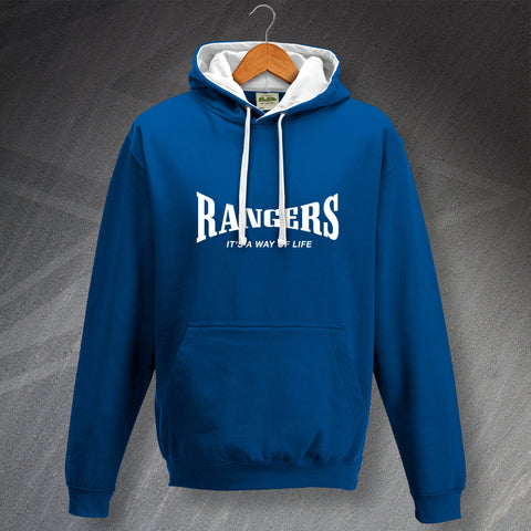 Rangers Football Hoodie Contrast It's a Way of Life