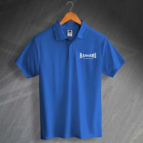 Rangers Football Polo Shirt Printed It's a Way of Life