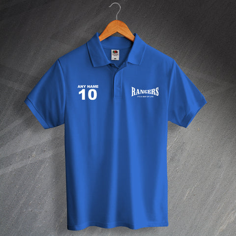 Rangers It's a Way of Life Polo Shirt with any Number & Name