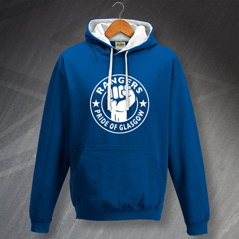 Rangers Football Hoodie Contrast Pride of Glasgow