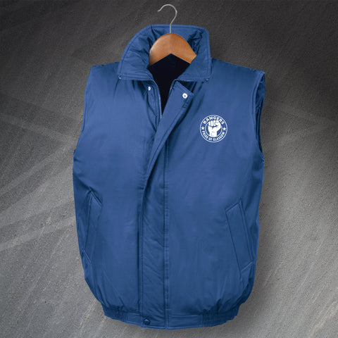 Rangers Football Bodywarmer Embroidered Padded Pride of Glasgow