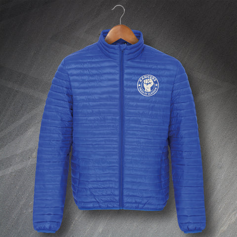 Rangers Pride of Glasgow Embroidered Fineline Padded Jacket
