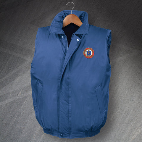 Rangers Football Bodywarmer Embroidered Padded 1959