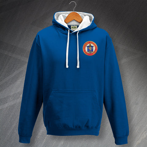 Rangers Football Hoodie Contrast Embroidered 1959