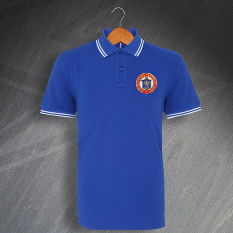 Rangers Football Polo Shirt Embroidered Tipped 1959