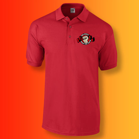 Red Devils Polo Shirt with Keep The Faith Design