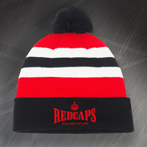 Royal Military Police Bobble Hat Embroidered Redcaps It's a Way of Life