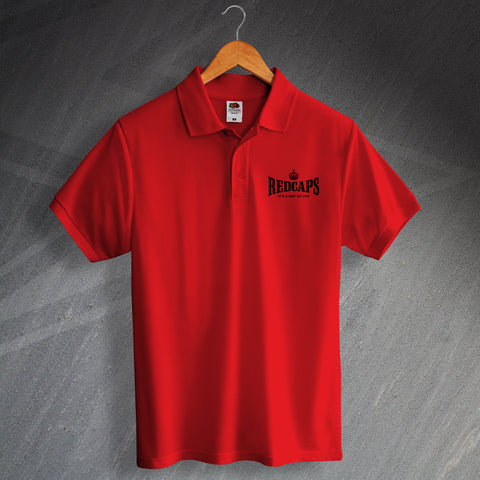 Royal Military Police Polo Shirt Embroidered Redcaps It's a Way of Life