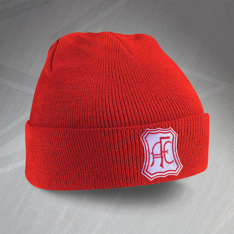 Retro Aberdeen Beanie Hat with Embroidered Badge
