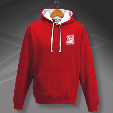 Retro Aberdeen Contrast Hoodie with Embroidered Badge