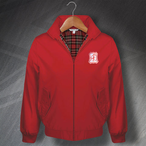 Retro Aberdeen Classic Harrington Jacket with Embroidered Badge
