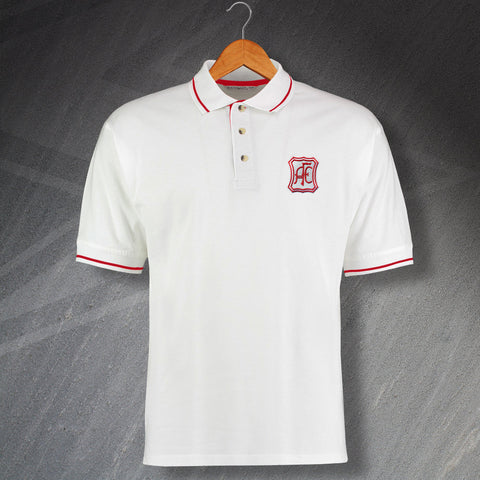 Aberdeen Football Polo Shirt Embroidered Contrast 1963