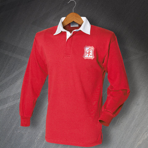 Retro Aberdeen Long Sleeve Football Shirt with Embroidered Badge