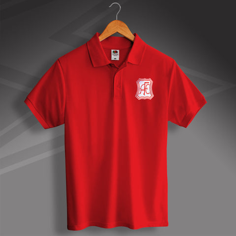 Retro Aberdeen Polo Shirt with Embroidered Badge