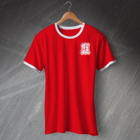 Retro Aberdeen Football Shirt with Embroidered Badge
