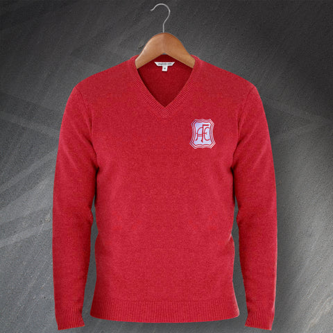 Retro Aberdeen V-Neck Jumper with Embroidered Badge