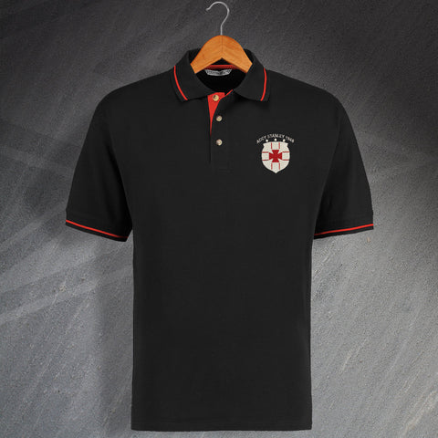 Retro Accy Stanley Embroidered Contrast Polo Shirt