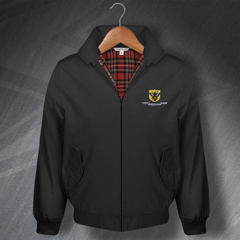 Retro Alloa Classic Harrington Jacket with Embroidered Badge