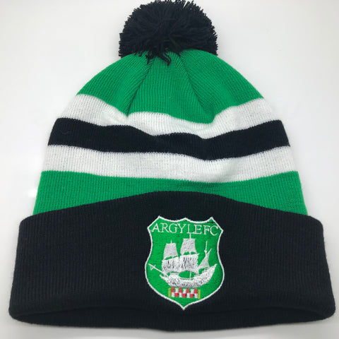 Plymouth Football Bobble Hat Embroidered Argyle FC
