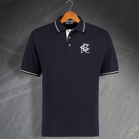 Retro Birmingham Embroidered Contrast Polo Shirt