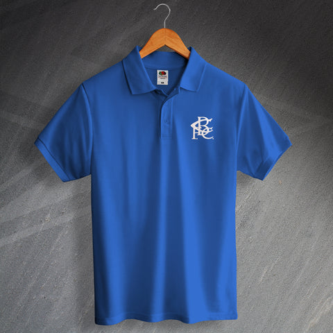 Retro Birmingham Polo Shirt with Embroidered Badge