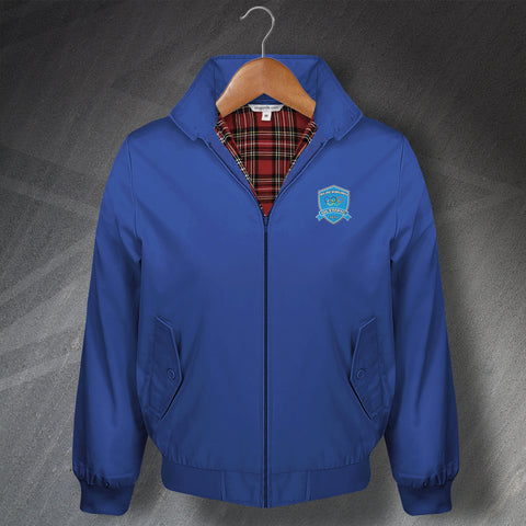 Retro Blackburn Olympic Harrington Jacket with Embroidered Badge