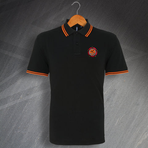 Blackpool Football Polo Shirt Embroidered Tipped 1987